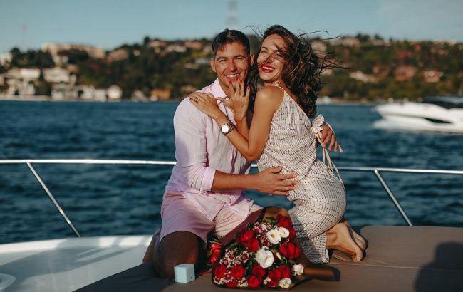 Владимир Остапчук и Кристина Горняк стали мужем и женой: первые свадебные фото