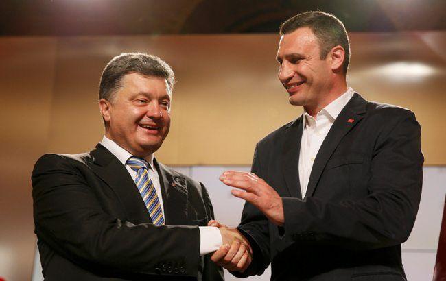 Фото: Петр Порошенко и Виталий Кличко