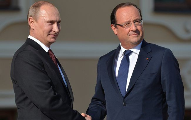 Путин и Олланд обсудят борьбу с терроризмом в Москве 26 ноября