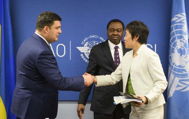 Фото: Владимир Гройсман встретился с руководителями ІСАО (kmu.gov.ua)