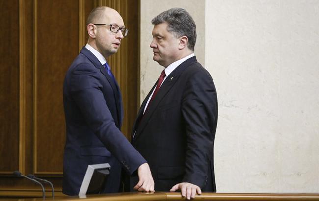 Фото: Петр Порошенко и Арсений Яценюк (УНИАН)