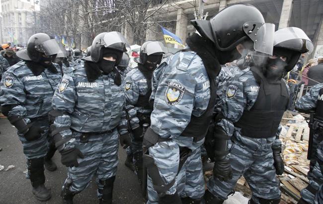 """Фото: бойцы """"Беркута"""" (УНИАН)"""