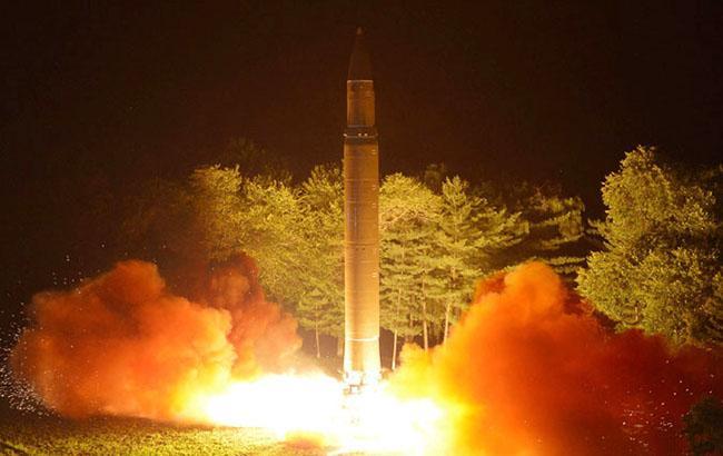 Фото: ракета Северной Кореи (kcna.kp)