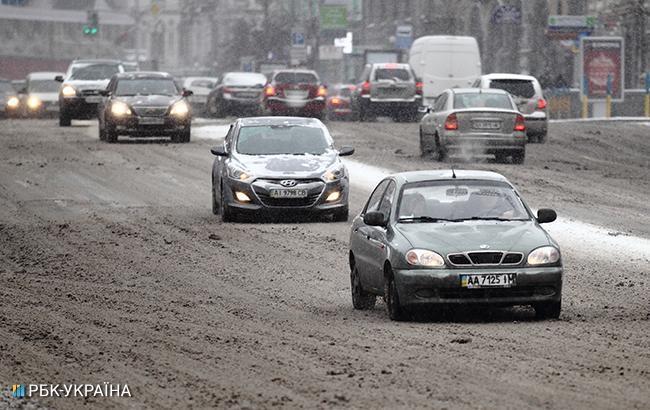 Синоптики предупреждают о дожде с мокрым снегом в Киеве
