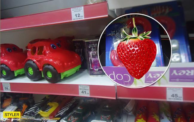 В популярном супермаркете Мелитополя в детском отделе продают секс-игрушки