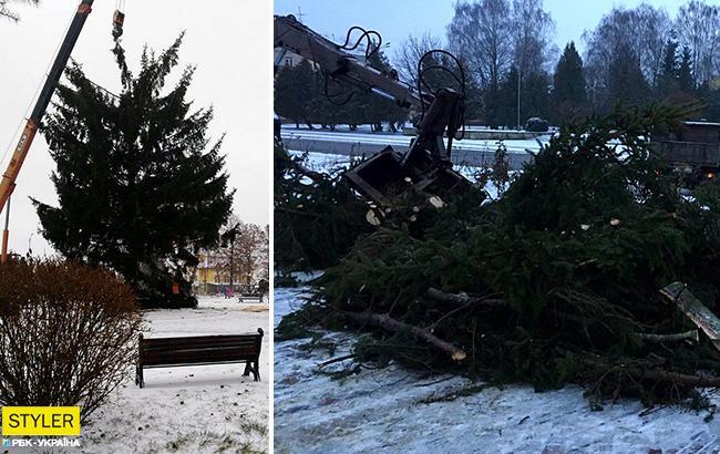 Праздника не будет? С главной елкой украинского города произошел конфуз (фото)