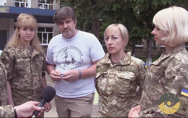 Воїни АТО допомогли школярам Лисичанська