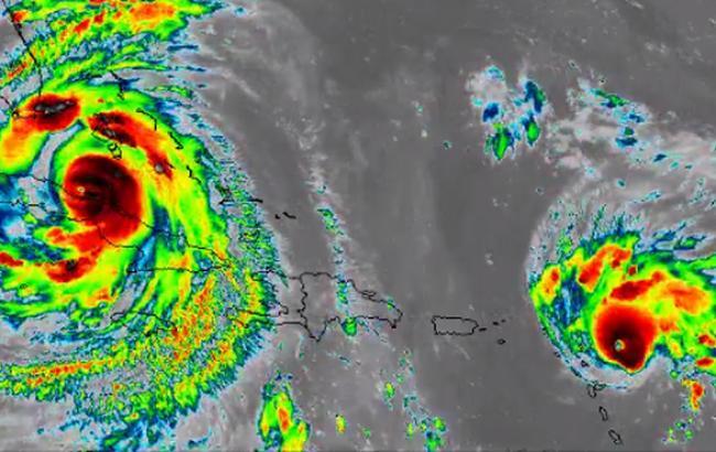 "Фото: ураган ""Ірма"" (twitter.com/NASA_SPoRT)"