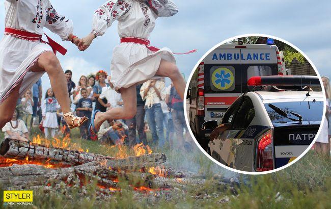 Под Черкассами парень упал в костер на праздновании Купала: юноша нуждается в помощи (фото)