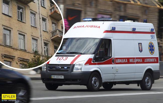 У Києві жінка з 3-річним сином вистрибнула з вікна: її сильно побив чоловік