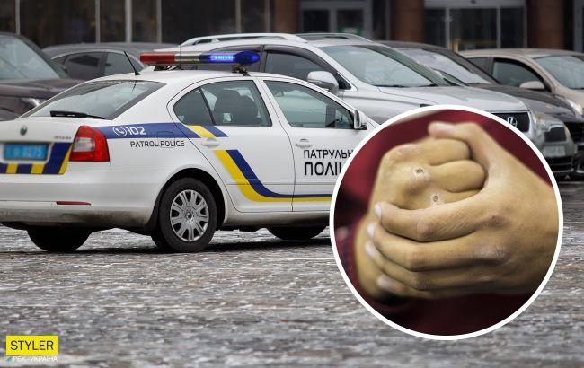 В Киеве мотоциклист и водитель авто устроили жесткие разборки на скорости (видео)