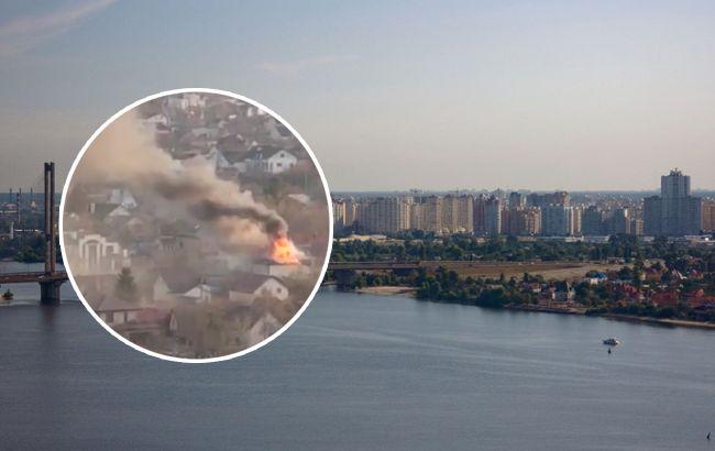 Лівий берег затягнуло димом: у Києві палав мікрорайон (відео)