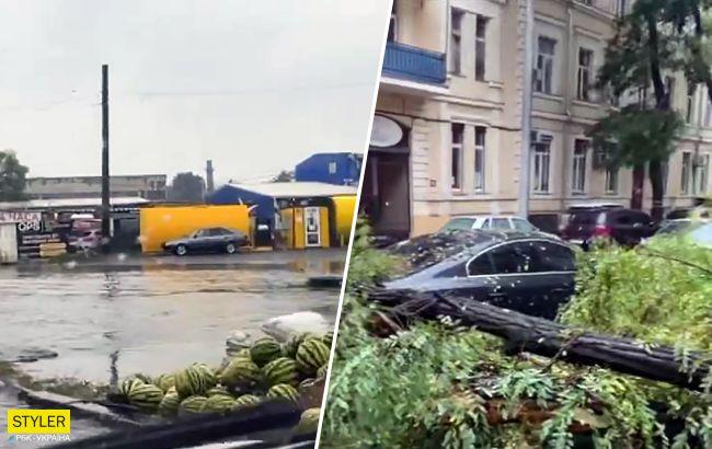 Деревопад і затоплені вулиці: Одесу накрила негода (відео і фото)