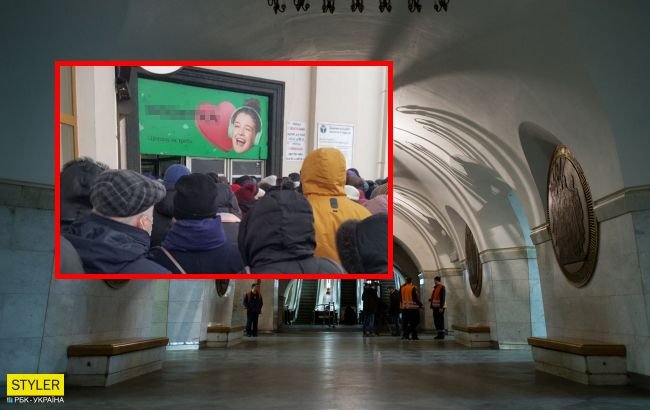 В метро Киева - новый коллапс: фото огромных очередей