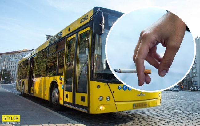 В Киеве водитель автобуса отличился неадекватным поведением, но его поддержали