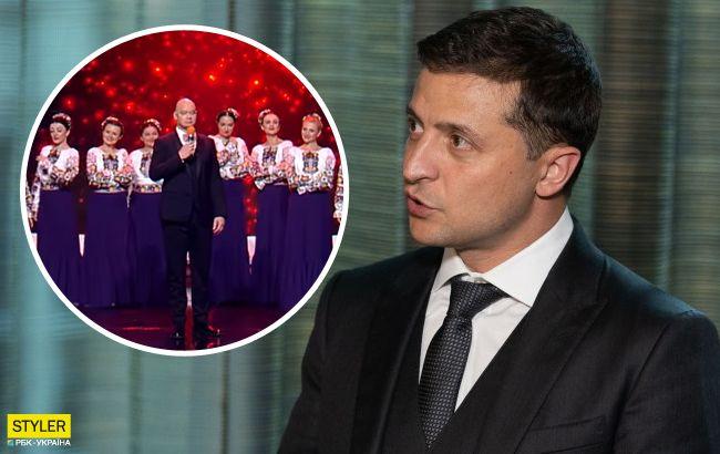"""Зеленський відреагував на скандальний номер """"Квартала 95"""" і хору Верьовки"""