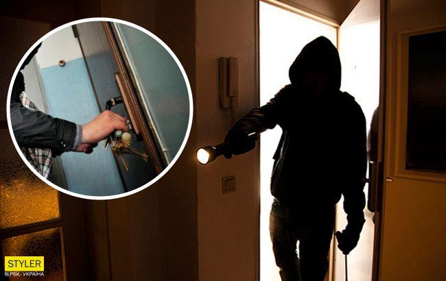 В Киеве начался сезон квартирных краж: работу наглых воров показали на видео