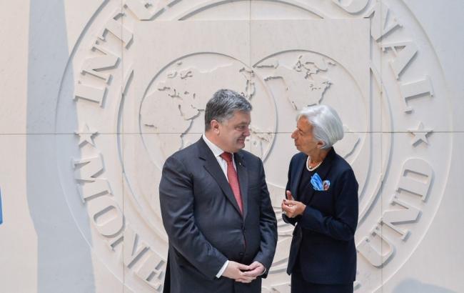 Порошенко обсудил с Лагард внедрение структурных реформ в Украине
