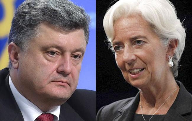 Порошенко домовився про зустріч з главою МВФ в січні