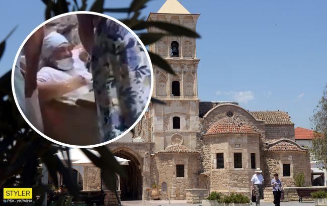 На Кипре российская туристка залезла в саркофаг и застряла: видео спасения