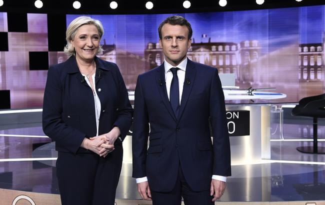 У Франції глядачі підтримали Макрона на дебатах з Ле Пен