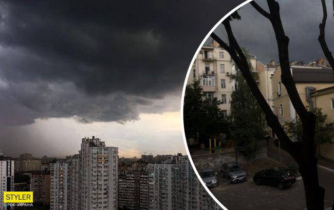 Киев затопило ливнями и засыпало градом: появились фото и видео