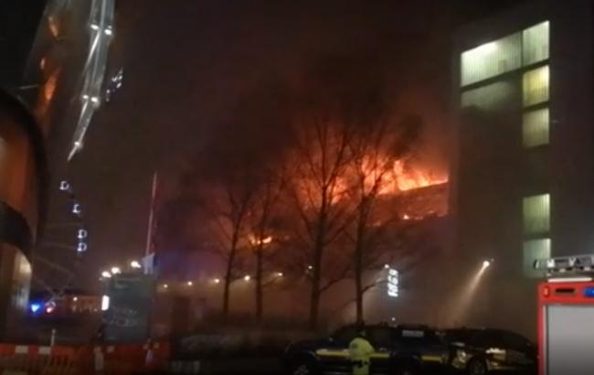 Фото: пожар в Ливерпуле (скриншот с видео)