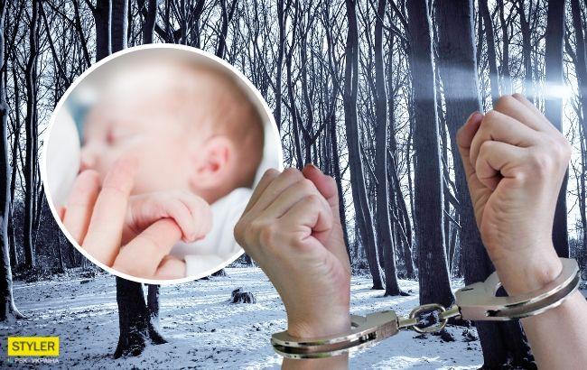 Жінка залишила немовля в лісі і зникла: з'явилося відео