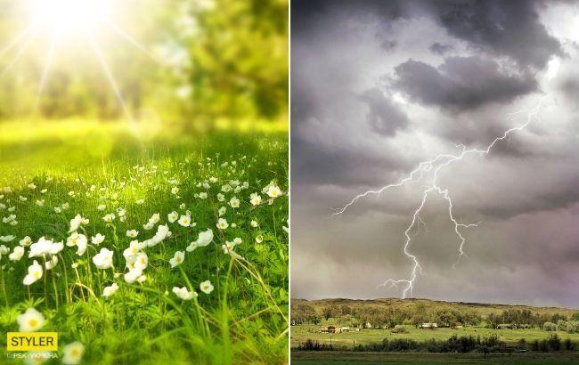 Спека, град і шквальний вітер: українців здивували прогнозом на вихідні