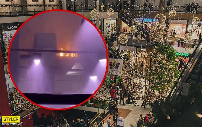 В одном из наибольших ТРЦ Украины случился пожар: первые подробности и видео