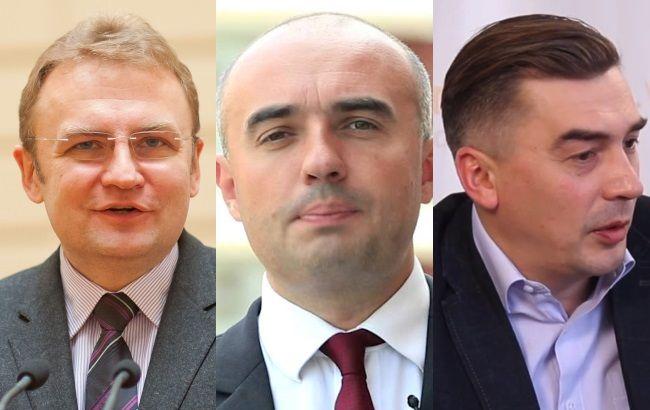 Фото: Садовый, Гирняк и Добродомов - главные претенденты на пост мэра Львова