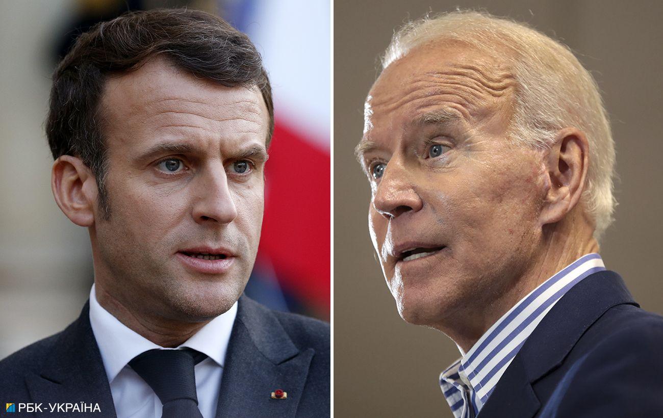 Байден и Макрон обсудили скандал с подлодками: посол Франции вернется в США