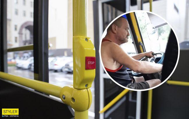 В Киеве поймали на видео маршрутчика с одним глазом, распивающего за рулем пиво