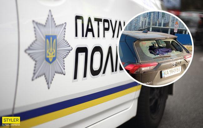У Києві вандали розгромили іномарку і залишили моторошний подарунок: помста в стилі мафіозі