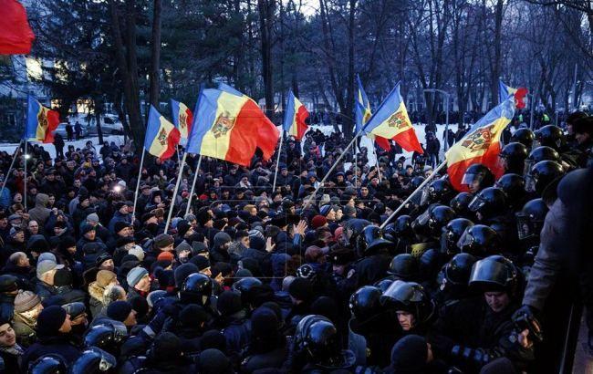 Фото: протесты в Кишиневе (publika.md)