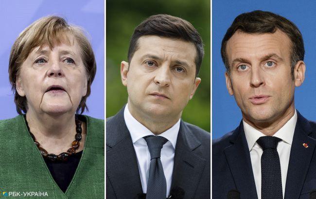 Зеленський, Меркель і Макрон закликали Росію відвести війська від кордону України і Криму