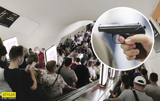 У метро Києва влаштували розборки з пістолетами і газовими балонами (відео)
