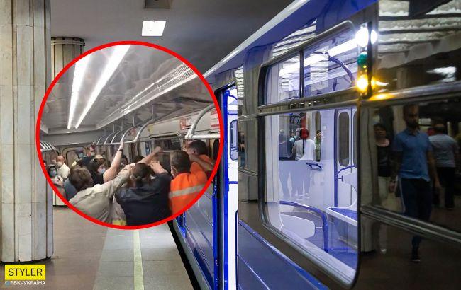В Харькове произошла массовая драка в метро из-за масок (видео)