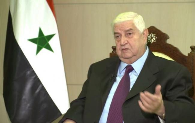 Фото: министр иностранных дел Сирии Валид аль-Муаллем