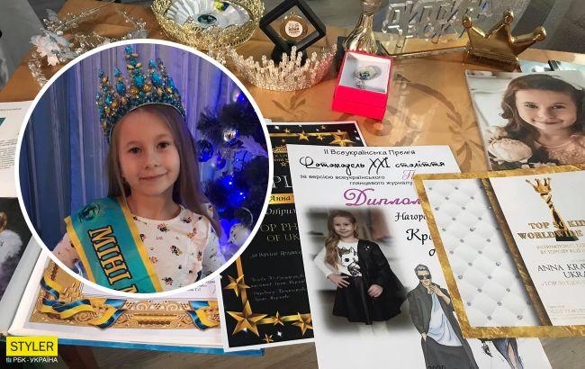 """В конкурсе """"Мини мисс украиночка 2020"""" победила 5-летняя Аня: как выглядит юная красавица"""