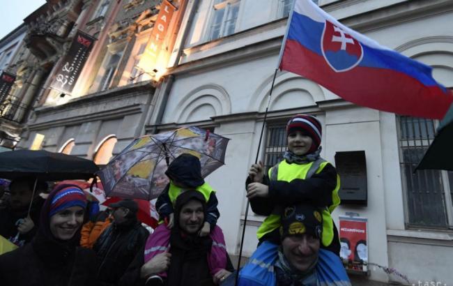 Фото: протесты в Словакии