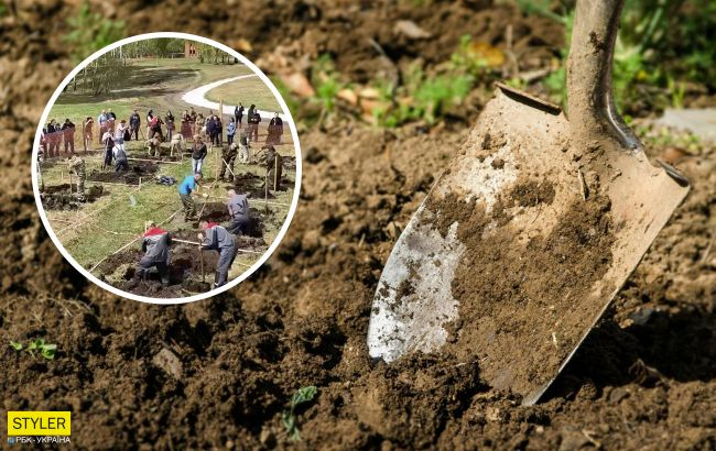 В России устроили соревнования по скоростному копанию могил: победителю - ценный приз