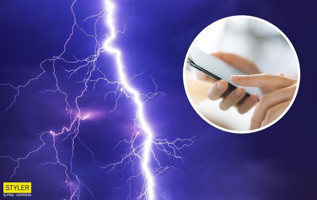 Под Житомиром молния чуть не убила школьницу, которая разговаривала по мобильному