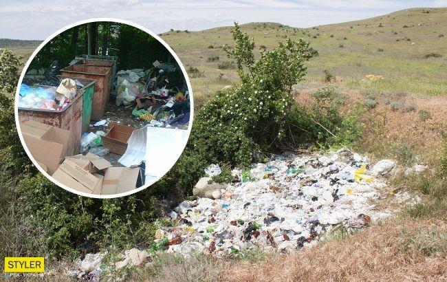 Побережье Крыма полностью утонуло в мусоре: о курортном сезоне не слышали