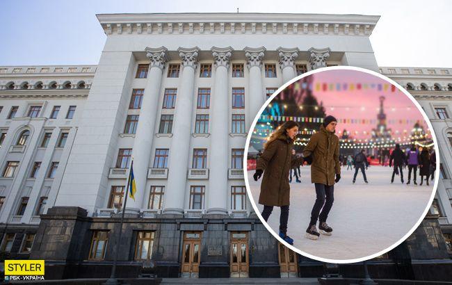 Митинг теперь не проведешь: в Киеве под окнами Зеленского строят каток