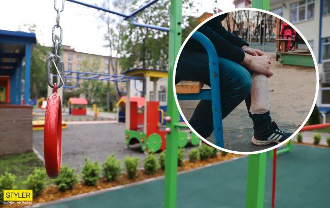 В Одессе мужчины атаковали ребенка на детской площадке: видео и детали ЧП