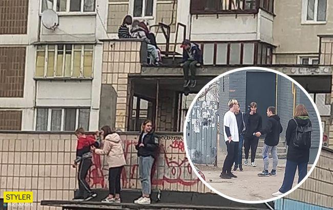 Киевлян разозлили дети, которые лазают по крышам: на замечания посылают (фото)