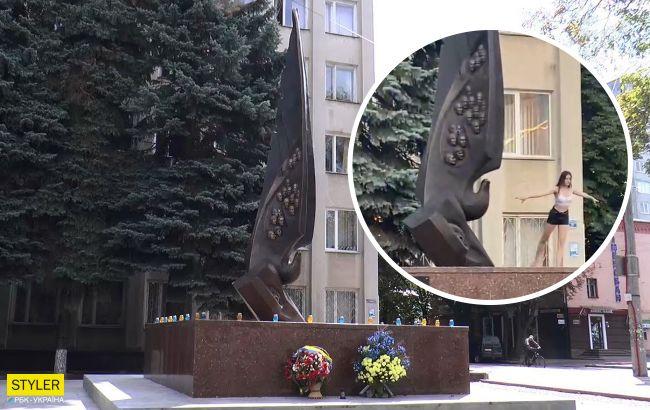 """У Хмельницькому дівчина станцювала на меморіалі Небесної Сотні: """"я так висловлюю повагу"""" (відео)"""