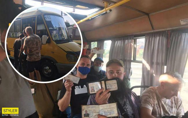 В Кропивницком 20 ветеранов АТО проучили водителя маршрутки (фото)