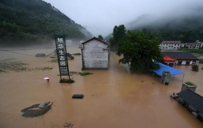 Фото: повінь у Китаї (xinhuanet.com)